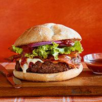 Tex-Mex Bacon Cheeseburger with Chipotle Ketchup -- this sounds like a burger I would like lol but Chris definitely wouldn't!!