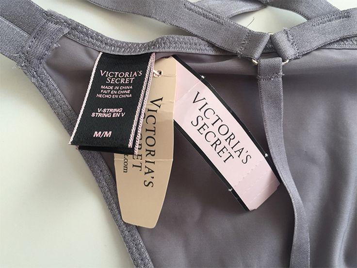 String Victoria's Secret gris Victoria's Secret ! Taille 38 / 10 / M  à seulement 20.00 €. Par ici : http://www.vinted.fr/mode-femmes/culottes-et-strings/28951477-string-victorias-secret-gris.
