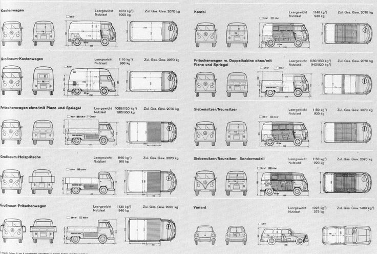vw type 2 t1 type 3 variant plans trucks pinterest chang 39 e 3. Black Bedroom Furniture Sets. Home Design Ideas