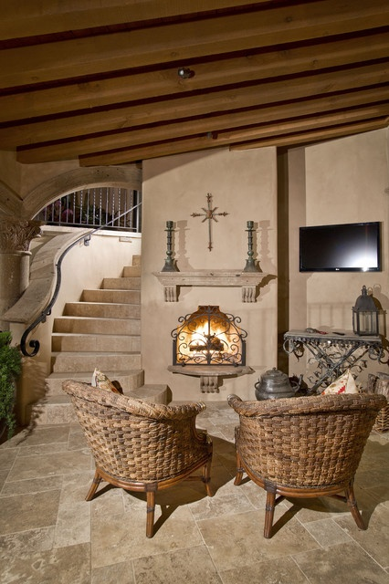 Spanish Hacienda - mediterranean - patio - phoenix - by Candelaria Design Associates