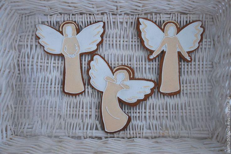 Купить Имбирное печенье (пряники) Ангелы - имбирное печенье, имбирный пряник…