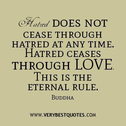 Love and hatred quotes by buddha