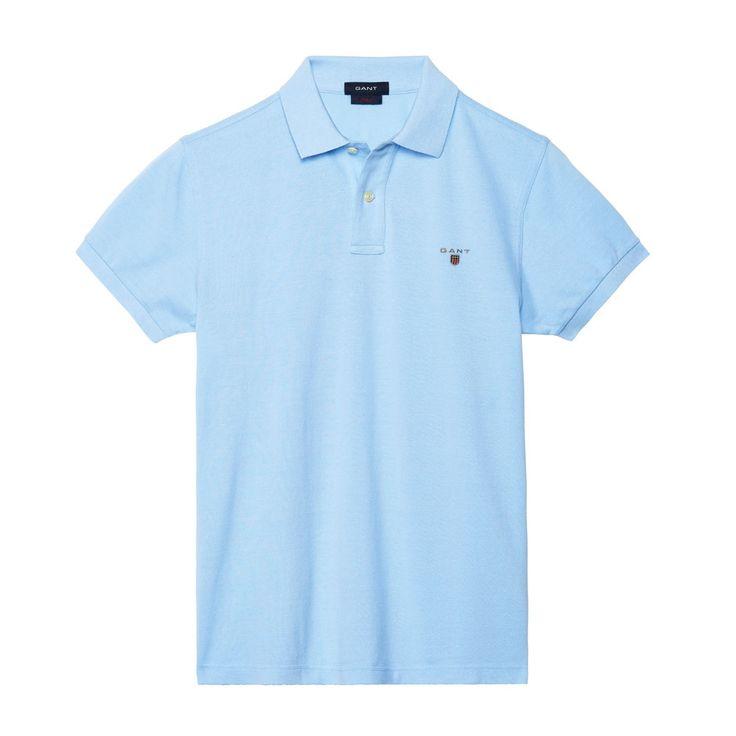 Gant Polo GANT SOLID Capri-Blue T-Shirt - 3 #GantPolo