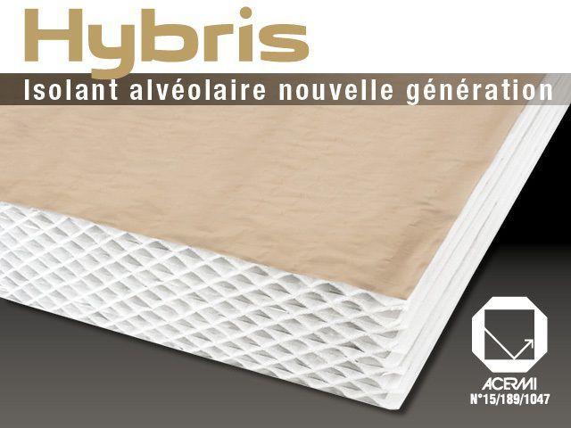 HYBRIS est un isolant 2 en 1 conçu pour réaliser en une seule opération l'isolation thermique, phonique et l'étanchéité à l'air des toitures, murs et planchers de combles en neuf comme en rénovation.  #maisonAPart