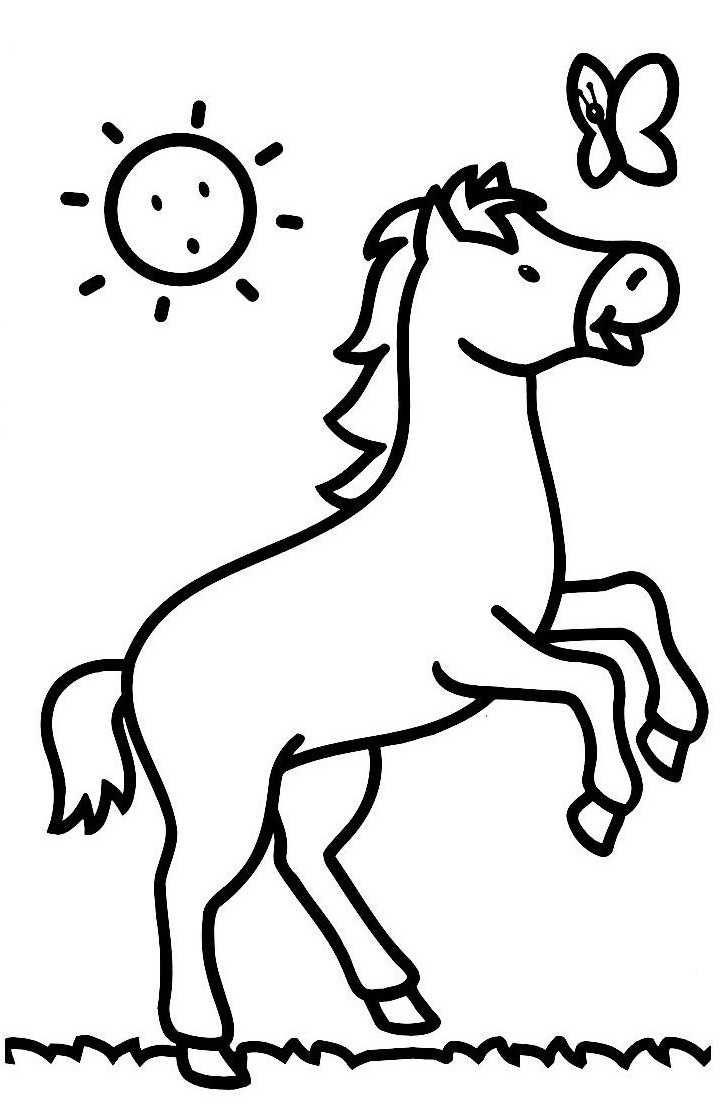 img/dessins a colorier/cheval.JPG   Coloriage cheval, Dessin ...
