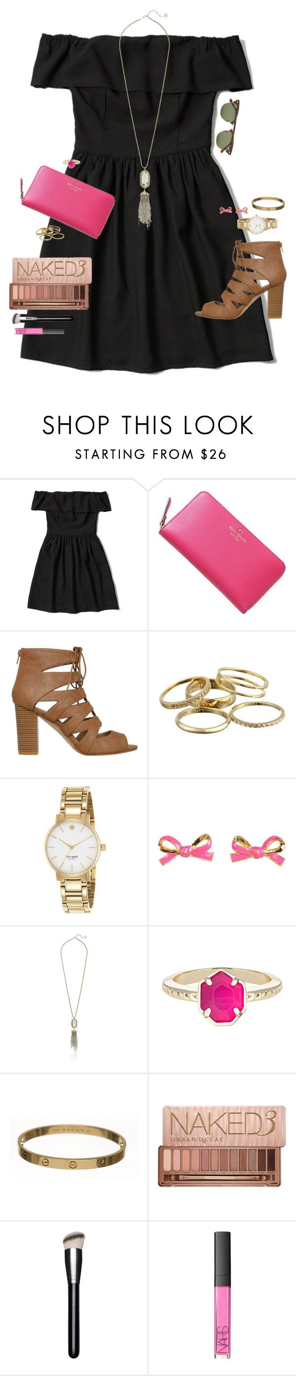 """Psalm 37:4"" by smbprep ❤ liked on Polyvore featuring Abercrombie & Fitch, Kate Spade, Kendra Scott, Cartier, Urban Decay, MAC Cosmetics, NARS Cosmetics and Ray-Ban"