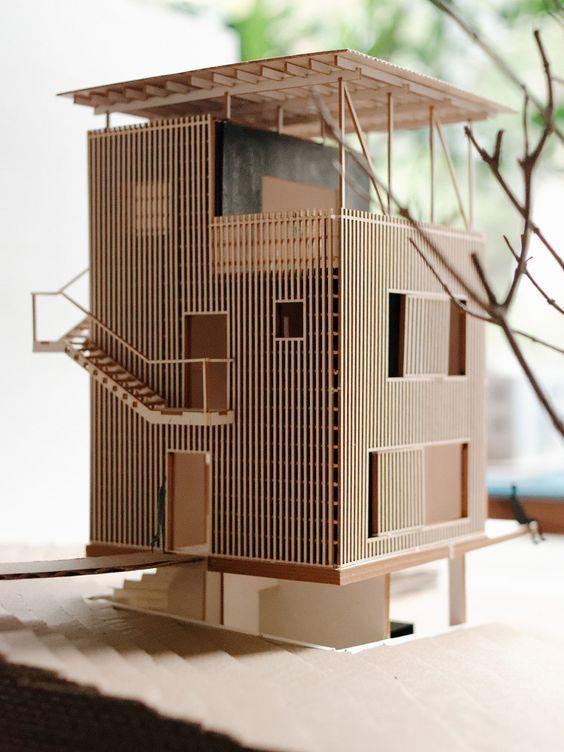 Kunst, architektonische Modelle zu machen ♥