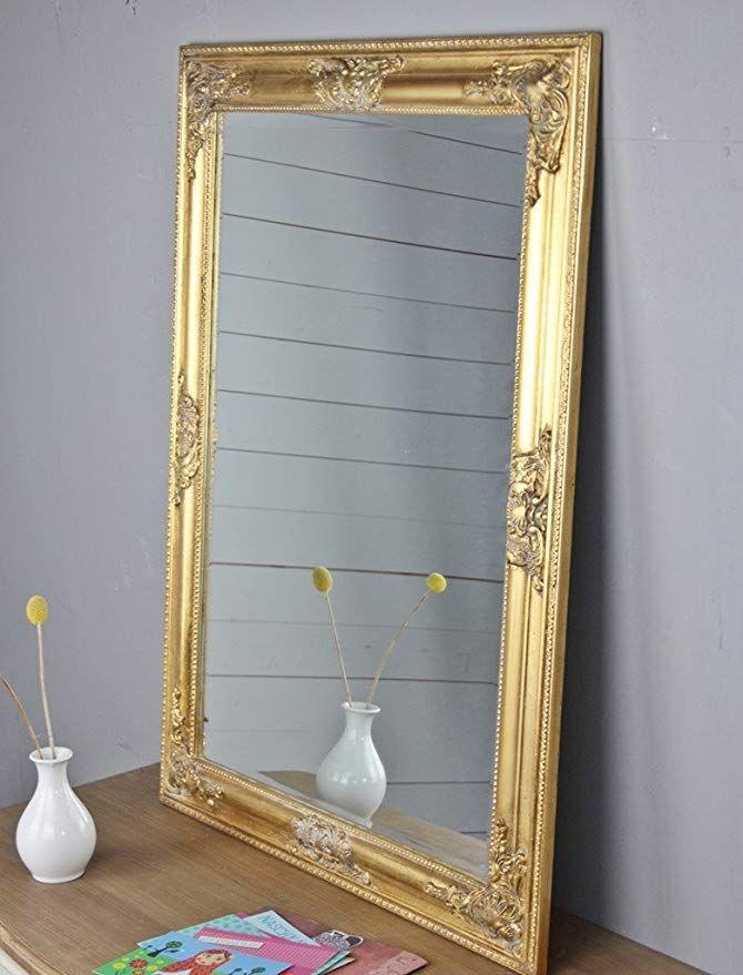Elbmobel 82x62cm Rechteckiger Wand Spiegel Handgefertigter Vintage
