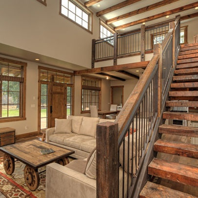 Staircase Photos Rustic Stairs Design Ideas, Pictures, Remodel, and Decor - page 2