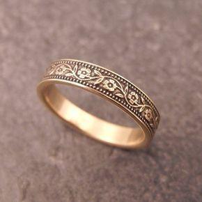 Womens Ehering für ihre Womens Ehering 14k weiß gelb oder Rose Gold Band