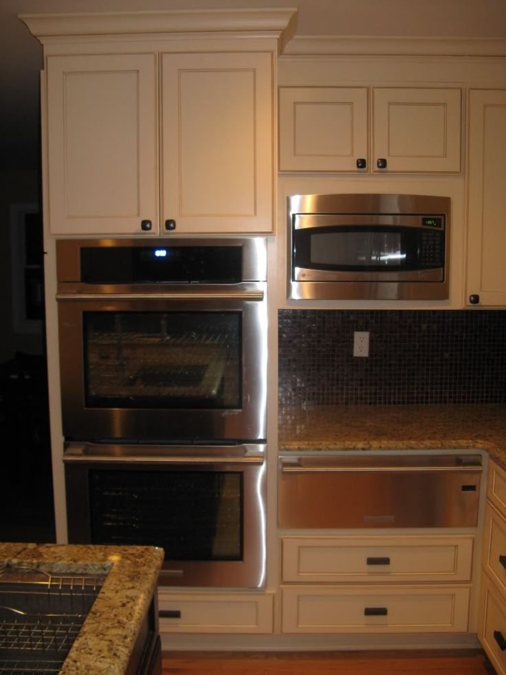 Countertop Microwave Placement : Kitchen Island With Granite Countertop And Backsplash also Donald ...