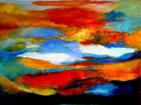 Abstract, olieverf op doek 2014
