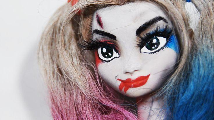 DIY_할리퀸 메이크업! 우리 안나가 달라졌어요2_Harley Quinn Make up! Repainting Dolls