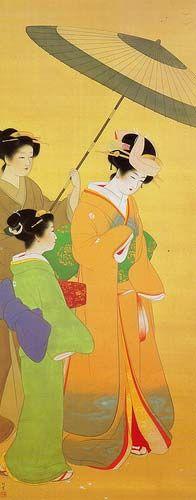 Uemura Shoen #Shoen: Shoen Shoen, Japan Art, Shoen Japan Paintings, Geishas Art, Art Asian, Shoen Japanese Paintings, Asian Art, Uemura Shoen, Shoen 1875 1949