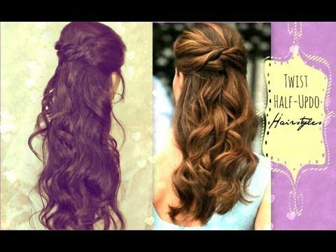 ★ Kate Middleton Inspired,  TWIST-CROSSED, HALF-UP LONG HAIRSTYLE WITH CURLS TUTORIAL for wedding, prom, or everyday