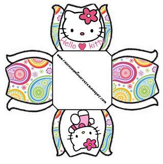 Hello Kitty - Kit Completo com molduras para convites, rótulos para guloseimas…