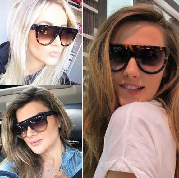 95866e952 Óculos de sol feminino quadrado nunca saem de moda, ficam lindos em  qualquer pessoa.