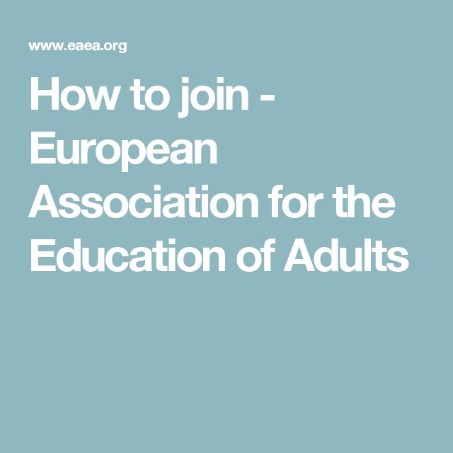 How to join - European Association for the Education of Adults