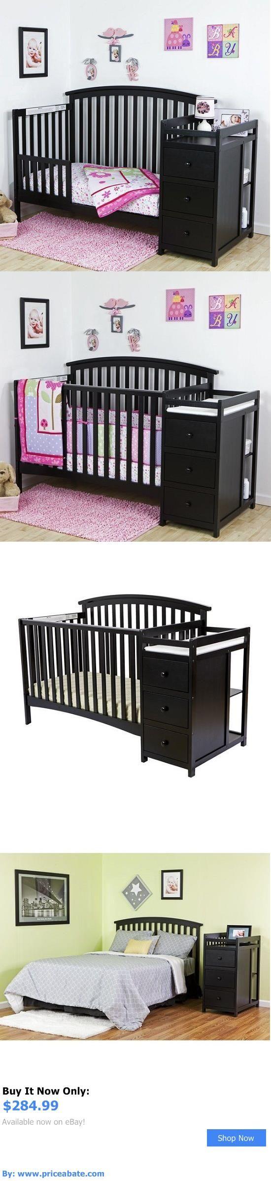 Baby Nursery: Convertible Crib Set Black 5-In-1 Changer Nursery Baby Toddler Bed Furniture New BUY IT NOW ONLY: $284.99 #priceabateBabyNursery OR #priceabate