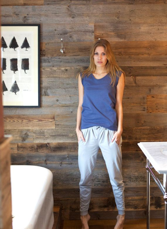 Organic Cotton Women's Pyjama Bottoms Hareem Nightwear by noctu