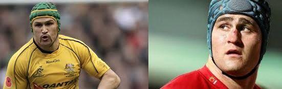 Matt Giteau and James Horwill; Australian rugby internationals