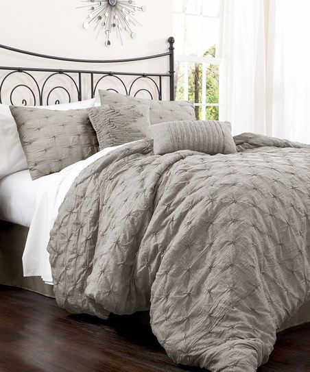 Gray Lake Como Comforter Set. I'm thinking this is the look we will do when we finally move to the upstairs bedroom