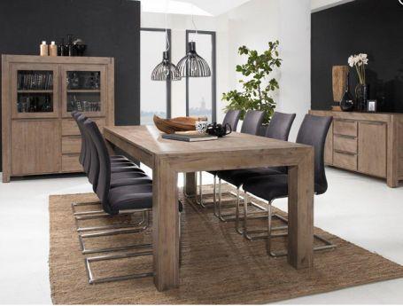 Esstisch 140cm Hamburg massiv Holz Moebel Akazie Esszimmer Tisch - küchentisch mit stühlen