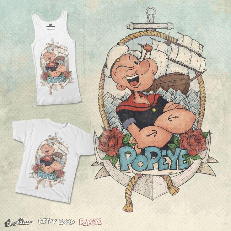 Popeye on Threadless