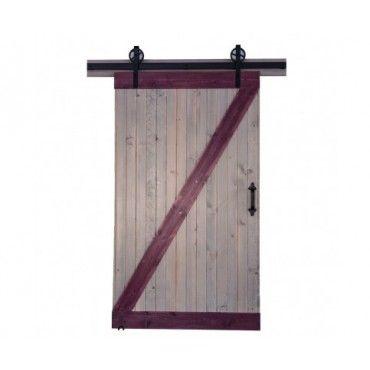 Turn Your Normal Door Into An Innovative Sliding Door By Choosing This  Heavy Duty Strap Black Rolling Barn Door Hardware Kit.