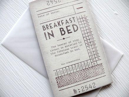 Breakfast in Bed ticket