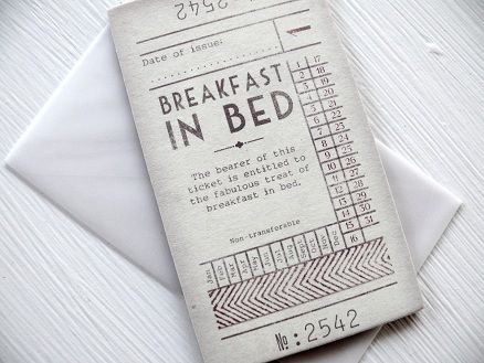 Breakfast in Bed ticket