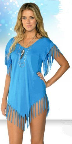 Women's Cotton Solid Fringe Cut Cover Up
