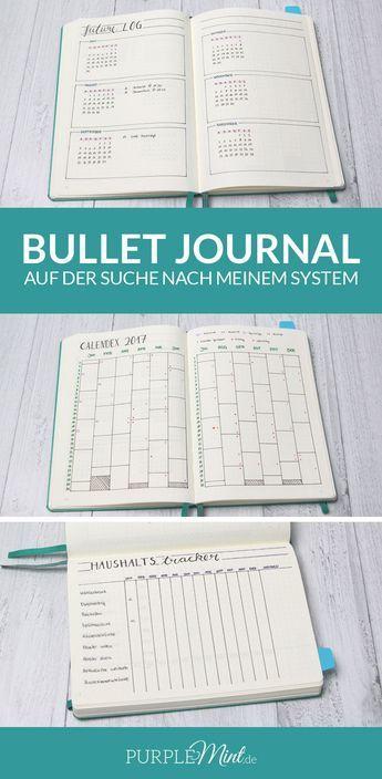 Bullet Journal – auf der Suche nach meinem System. | future Log - Calendex - Haushaltstracker | http://purplemint.de/2017/02/bullet-journal-auf-der-suche-nach-meinem-system/