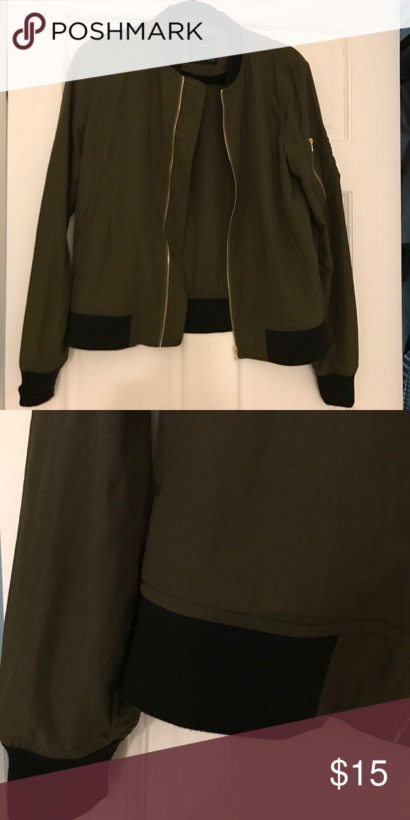 Zara Bomber Jacket Perfect condition bomber jacket! Sits at hips. Zara Jackets & Coats