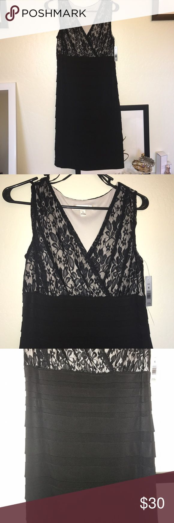 NWT black and white floral lace formal dress NWT black and white floral lace formal dress- NWT but price portion is off. Aa Studio Dresses