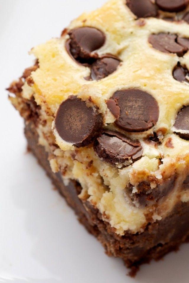 Black Bottom Brownies ~ http://www.bakeorbreak.com