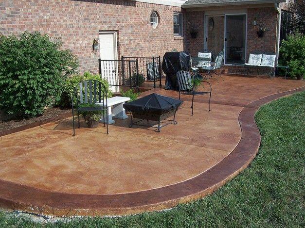 1000 ideas about concrete patio stain on pinterest
