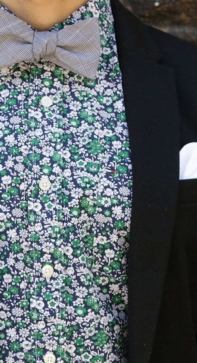 Like the floral shirt but personally I would wear this particular colour of Lord Wallington Bow Tie with it !