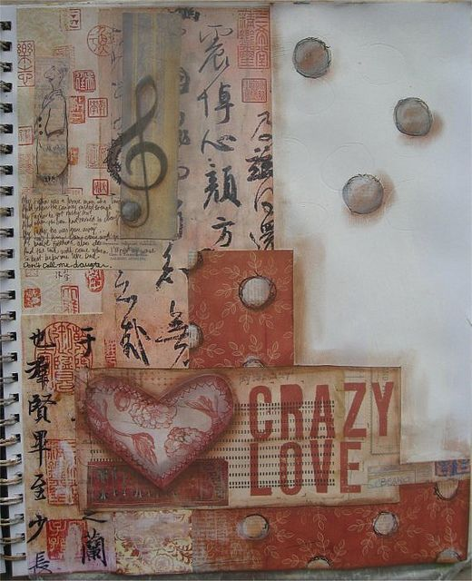"""crazy love"" collage, acrylics. by Sarah Farrell (me)"