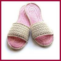 Zapatillas de spa a crochet