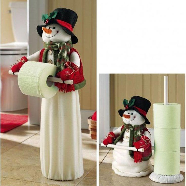 Porta+rollo+muñeco+de+nieve