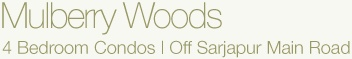 Mulberry Woods is 4BHK in Bangalore, Off Sarjapur Road. 4BHK Apartment Bangalore and 4BHK Flats in Bangalore. Developers of Residential Projects in Bangalore