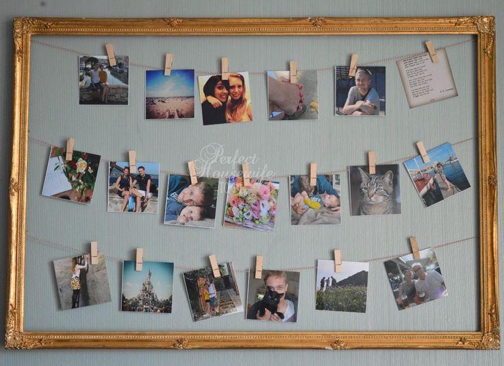 Lijst met waslijn foto's