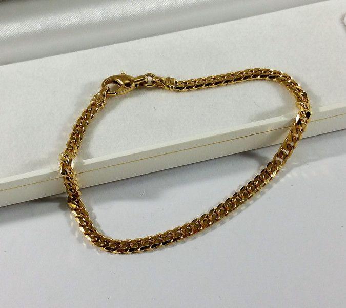 Vintage Armschmuck - Panzerarmband Armband Vintage edel Gold 333 GA118 - ein Designerstück von Atelier-Regina bei DaWanda