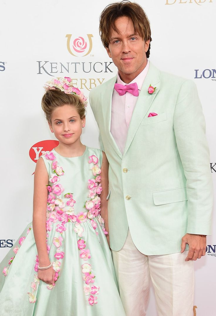 Anna Nicole Smith's daughter, Dannielynn Birkhead, looked all grown up at the Kentucky Derby on Saturday, May 7, with dad Larry Birkhead — photo