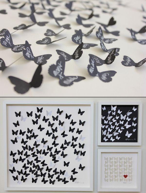 einzigartige und kreative hochzeit g stebuch ideen. Black Bedroom Furniture Sets. Home Design Ideas