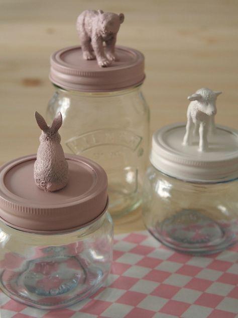Customized #mason #jars by Celestine et cie: http://celestineetcie.canalblog.com/archives/p10-10.html