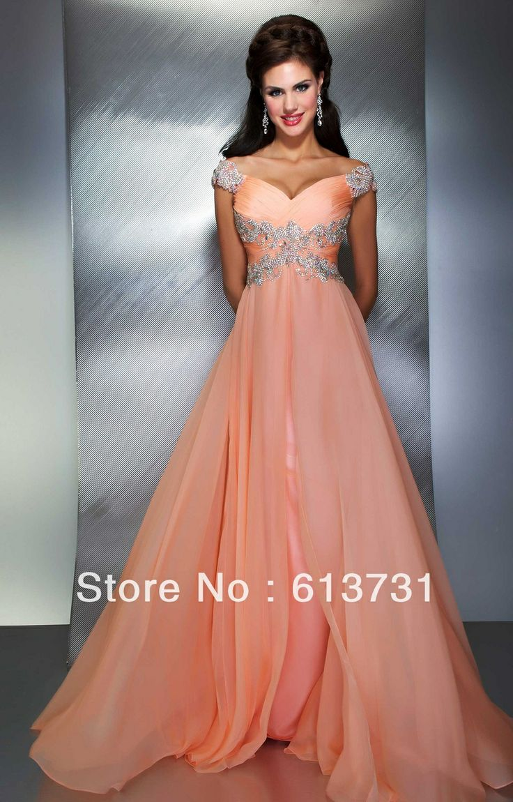 Coral colored pageant dresses