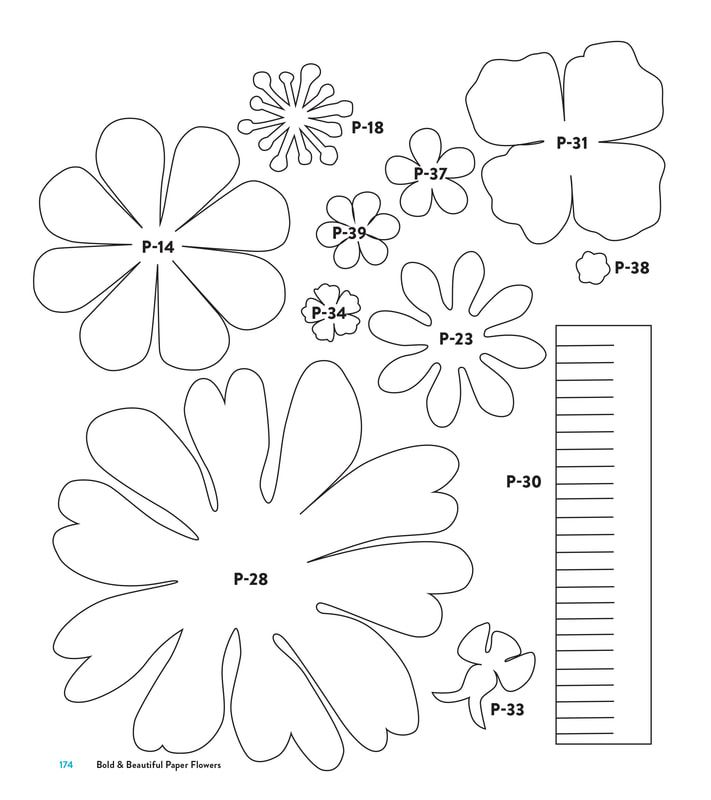 Templates For Diy Paper Flowers Paper Flower Patterns Paper