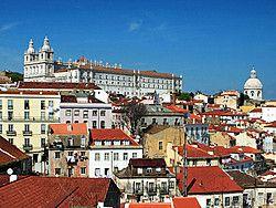 Lisboa Panorámica del barrio de Alfama